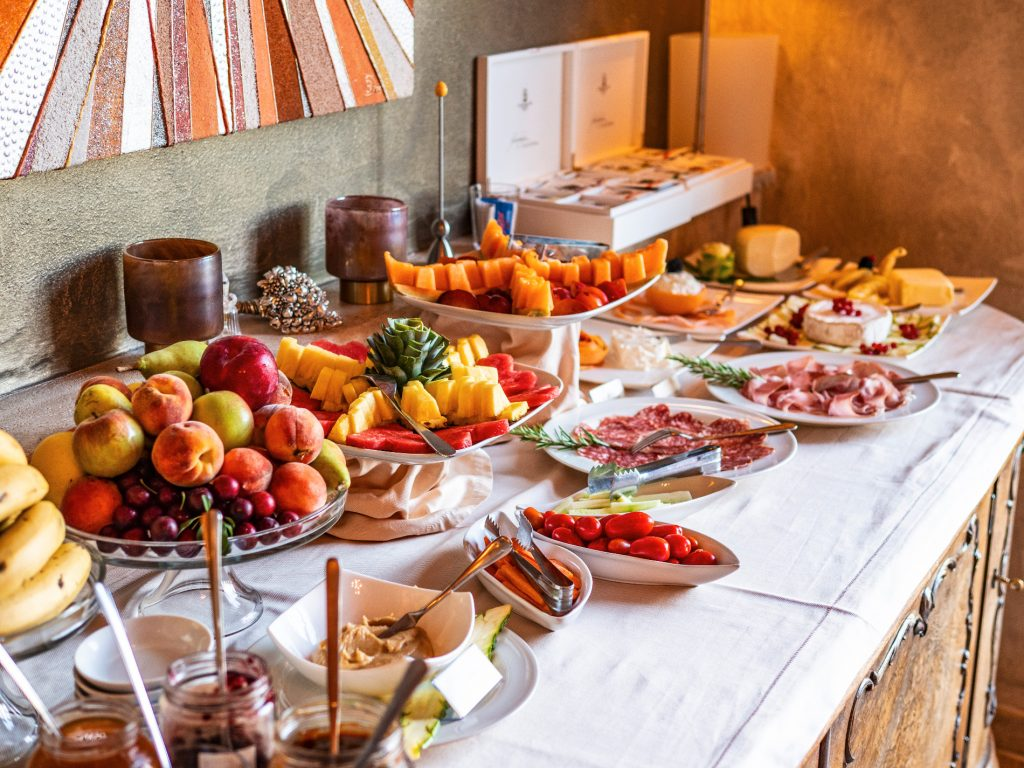Picture of the rich breakfast buffet at Villa Rey