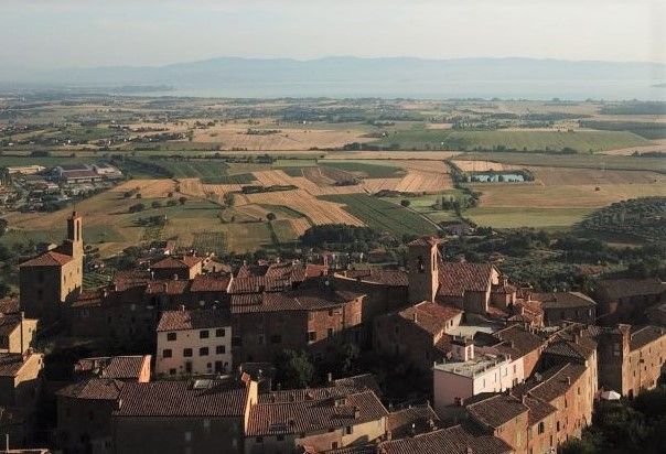 Picture of the next village Panicale